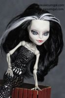 Shelly Skelly ooak MH Skelita repaint by awsumgal by awsumgal-Lux