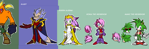 Sonic Underground / Updated Redesigns by Drawloverlala