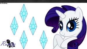 Rarity PS Vita Wallpaper [Redux 1.1] by likeaBrony