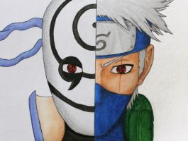 Obito and Kakashi - REDONE! by GelberBlitz