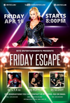 Friday Escape Party Flyer by hawkmax