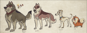 Wolves and Dogs by NattiKay