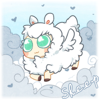 googly eyes sheep by Mousu