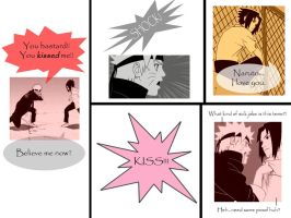 SasuNaru Screencap Comic pt. 1 by LilyFlare