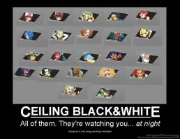 CEILING BLACK WHITE by Lucario1759