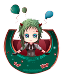-- Gumi: Poker Face chibi -- by Kurama-chan