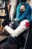 Bucky, the Winter Soldier Rule 63 Cosplay by CVQ by CinVonQuinzel