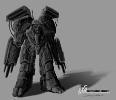 Male Heavy Armor Concept by psypher101