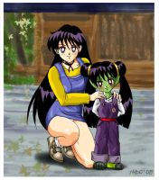 REI HINO AND DAUGHTER by Yabu07