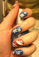 Christmas Nails by Toadychan