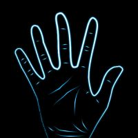 Neon Hand by Deceptively-Moist