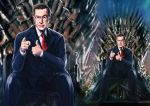 [Unpublished] Stephen Colbert on The Iron Throne by noei1984