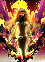 Dark Phoenix Coloured by ReverendTrigster