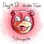 Day13.Fave Water Type.Slowpoke by CCL-Project