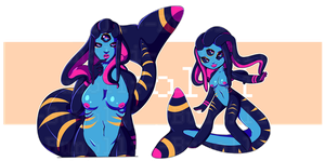 AUCTION: Monster Girl Adoptable (CLOSED) by bunolli