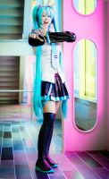 Hatsune Miku cosplay 2 by xwickedgames
