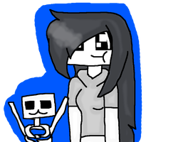 Skelly and a Skeleton! [Oh god] by RubytheCat12