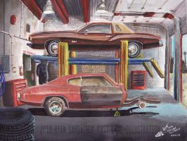 The Life Story Of A 1970 Chevy Chevelle (Part 14) by FastLaneIllustration