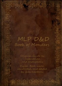 MLPFMTORPG Monster Guide Cover by iheartcartoons