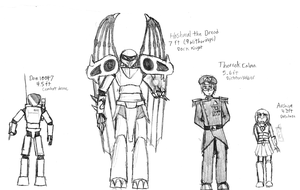 My OCs for LEO in height by IrateResearchers