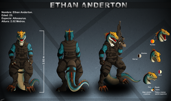 CM/Collab: Ethan's Ref sheet. by Razor-Zyrak