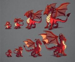 Dragon evolution by MichelVerdu