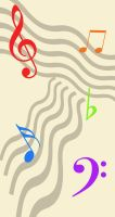 Custom Box Background - Music Notes by TheWritingDragon
