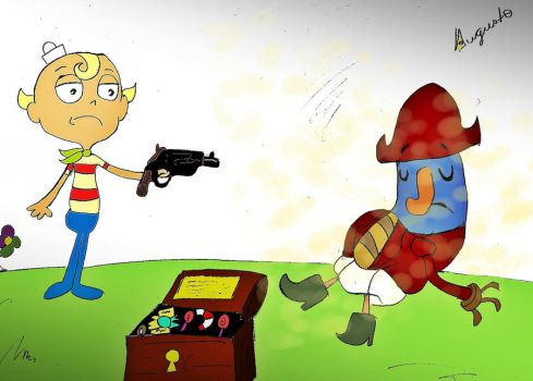 FLAPJACK AND CAPTAIN FALANGE by fabioaugusto106