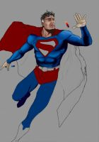 superman 'w.i.p' by andloco