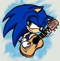 Sonic and his guitar :D by SonicsChilidog