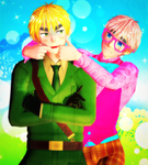 [MMD] Arthur and Oliver by GumiCandy