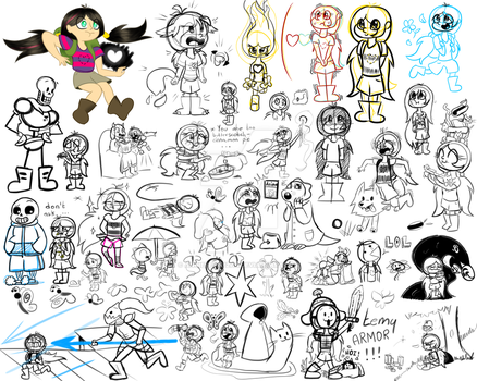 doodles undertale AU by AngiePeggy2114