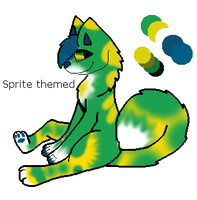 Sprite themed Soda pup adopt -open- by pug-qrincess