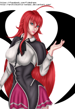 Rias Gremory by Architeuthis-Senpai
