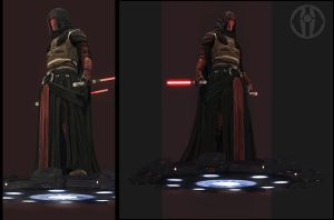 Revan lowpoly beauty test by digitalinkrod