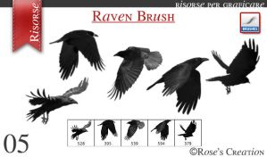 Raven Brush by dreamswoman