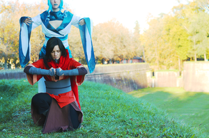 Legend of Korra cosplay: Raava and Avatar Wan II by Adurnah