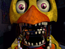 Five Night's At Freddy's 2 - Old Chica (GIF Test) by FD-Daylight