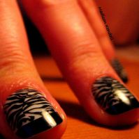 Zebra Nails 1 by MadisonKendall