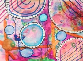 Watercolor Abstract by polarbear1234