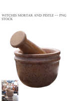 Witches Mortar and Pestle -- PNG STOCK by KarahRobinson-Art