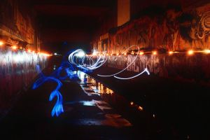 Glowsticks and LED drains by octopus7