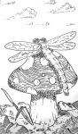 Dragonfly Mushroom by UncleWomas