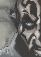 Darth Maul sketch card by idirt