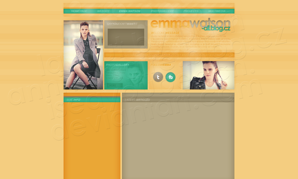 Layout: Emma Watson by iseayoubeach