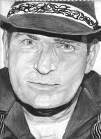 Charlie Sheen Charcoal by SCRUBZLOTUS