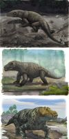 Permian reptiles by atrox1