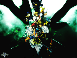 Kingdom Hearts 2 Wallpaper by LeonAus