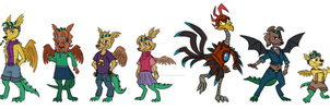 Johan and Others designs by CartoonSilverFox