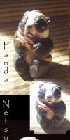 Panda netsuke by Sleetwealth